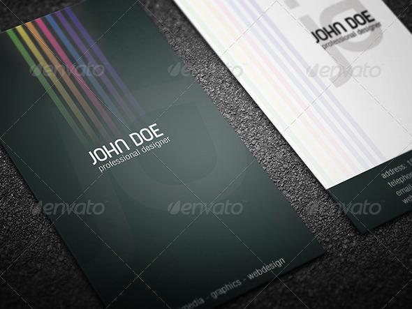 biglietto da visita arcobaleno 1