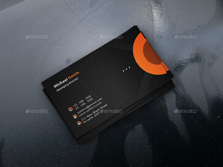 Biglietto da visita bicolore moderno 2