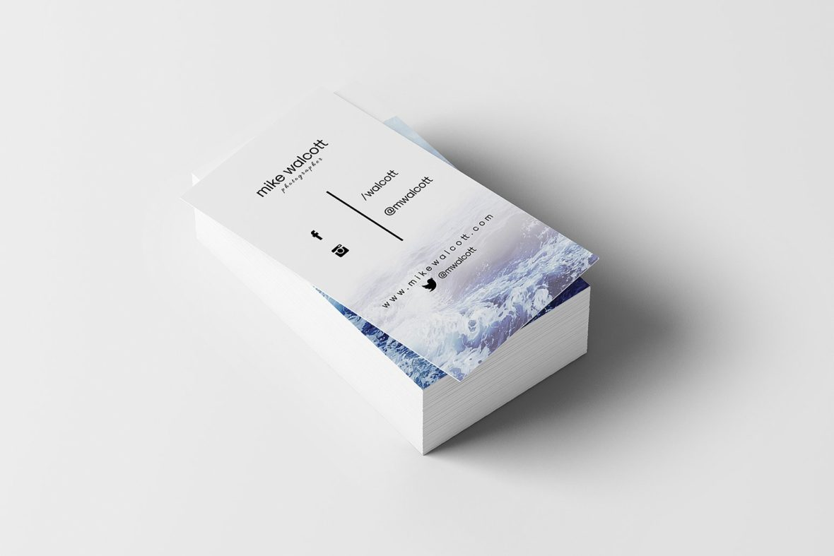 Biglietto da visita con immagine del mare2