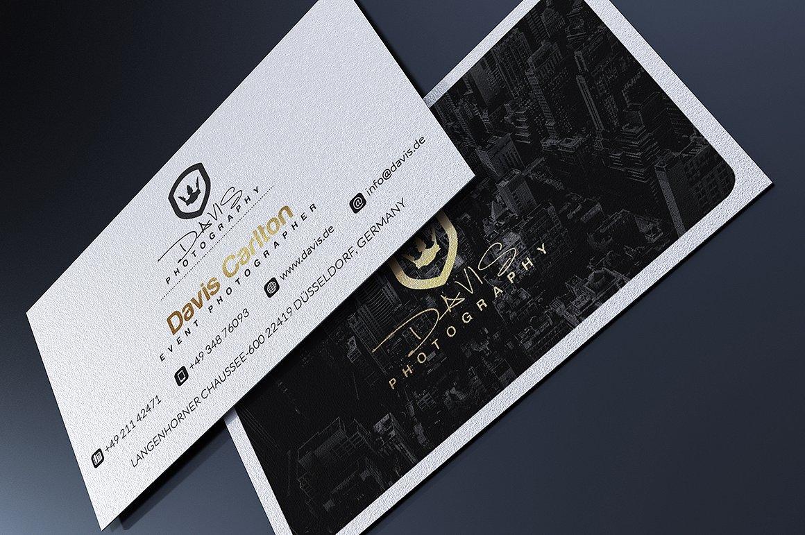 Biglietto da visita con immagine scura 2