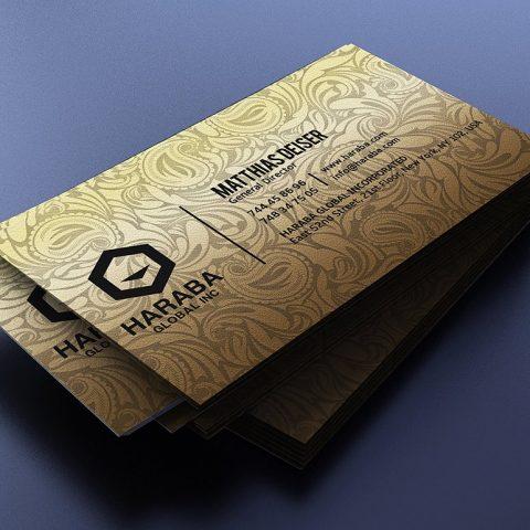 Biglietto da visita elegante nero e oro 3