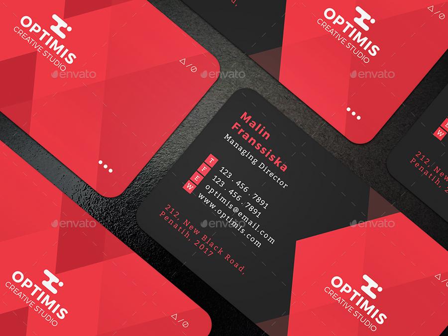 Biglietto da visita moderno e geometrico 4