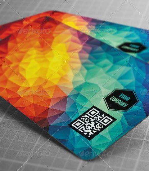 Biglietto da visita moderno poligonale-1