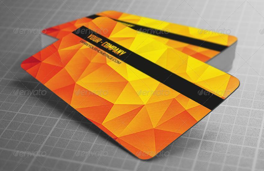 Biglietto da visita moderno poligonale-4