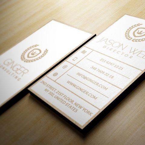 Biglietto da visita verticale bianco oro1