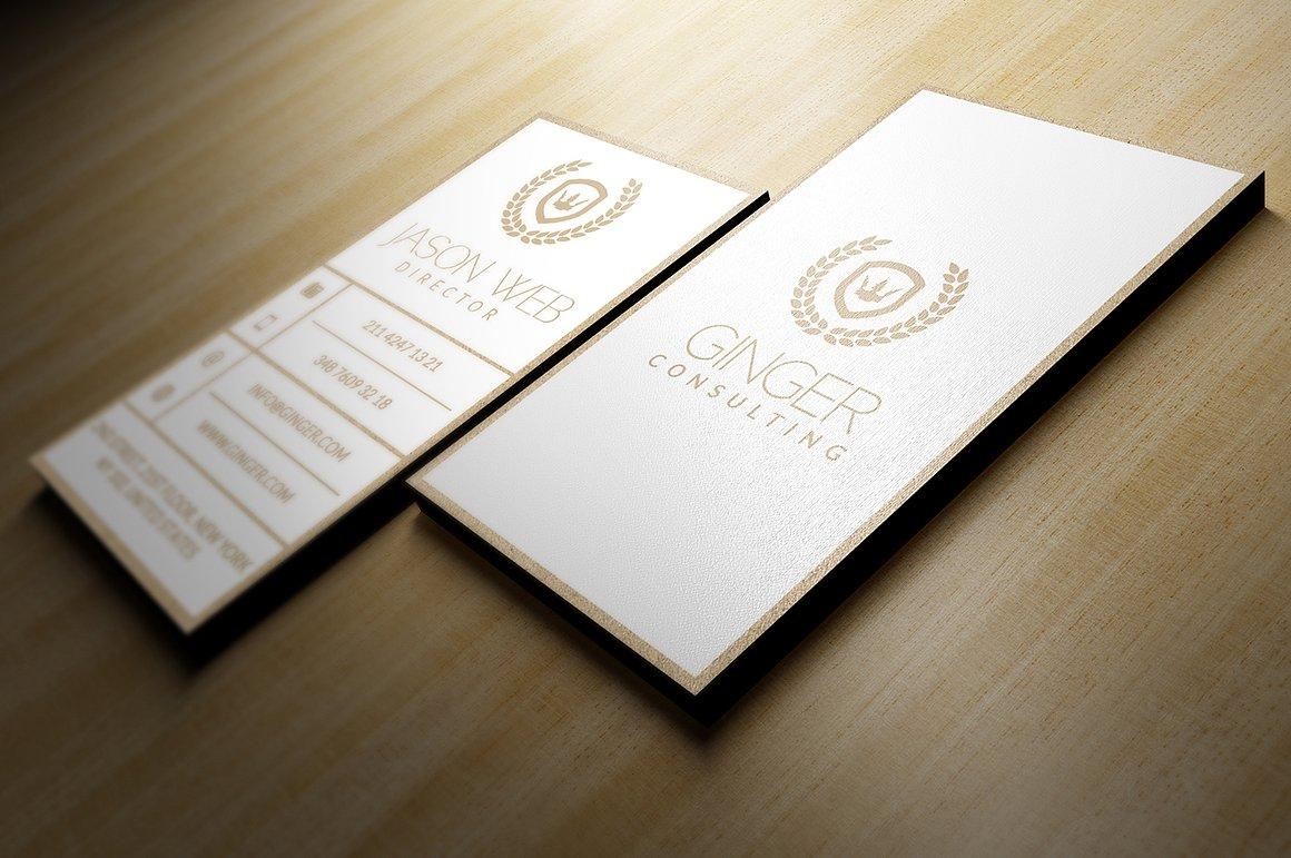 Biglietto da visita verticale bianco oro2