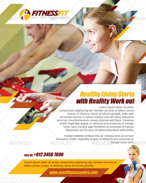 Volantino palestra fitness 3