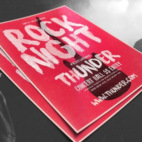 volantino musica rock