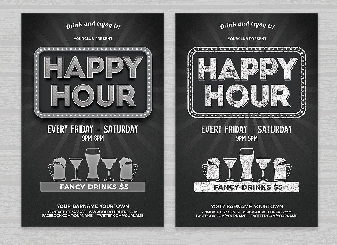 Volantino promozionale happy hour 1