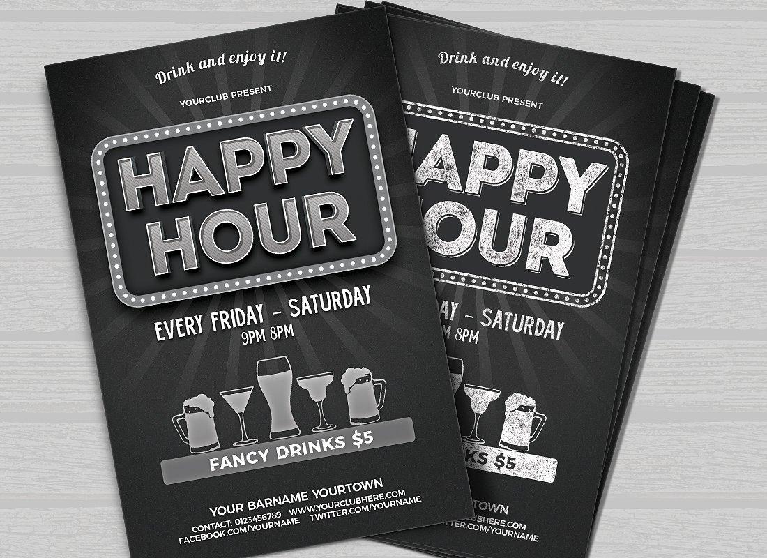 Volantino promozionale happy hour 2