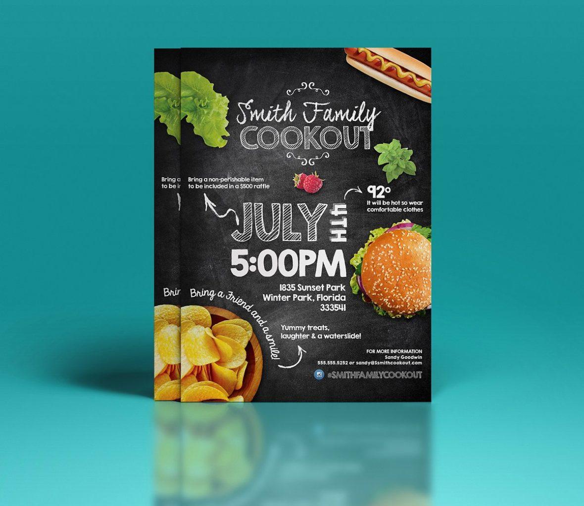 Volantino promozionale per aperitivi e happy hour2
