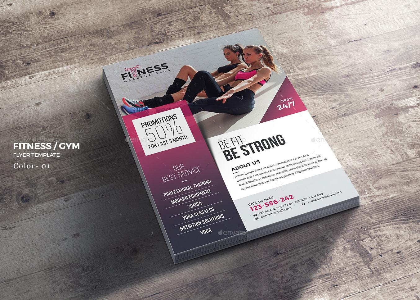 flyer elegante per attività fitness