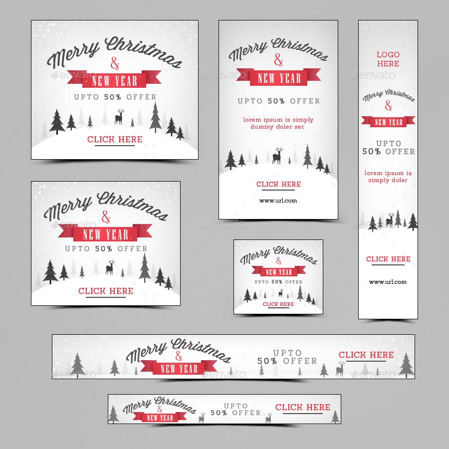 16 banner promozionali tema natalizio per ecommerce