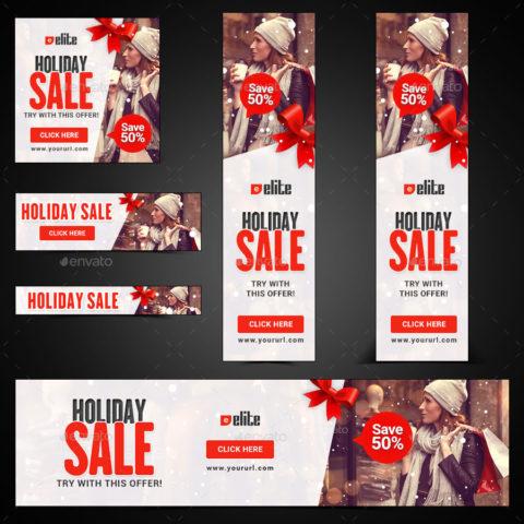 18 banner promozionali tema natalizio per ecommerce