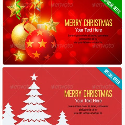 banner promozionali tema natalizio per ecommerce