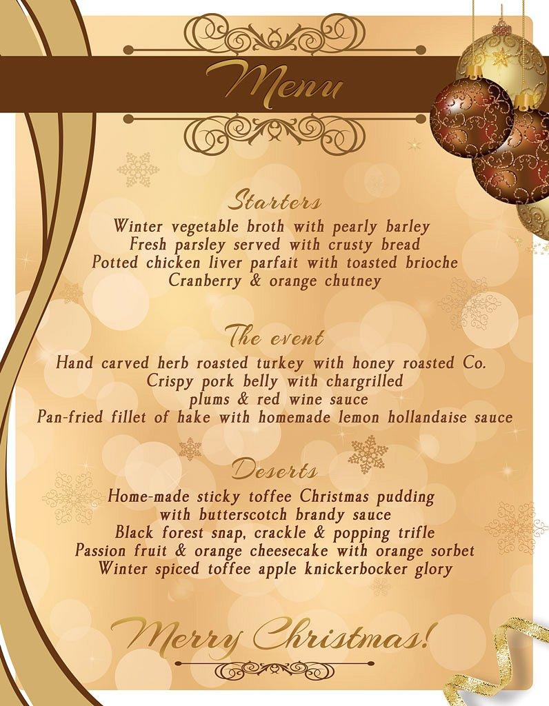 Menù per cena pranzo natale capodanno festività 2