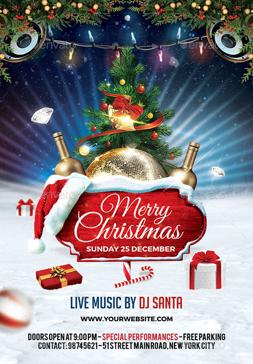 Volantino evento festività natalizie capodanno