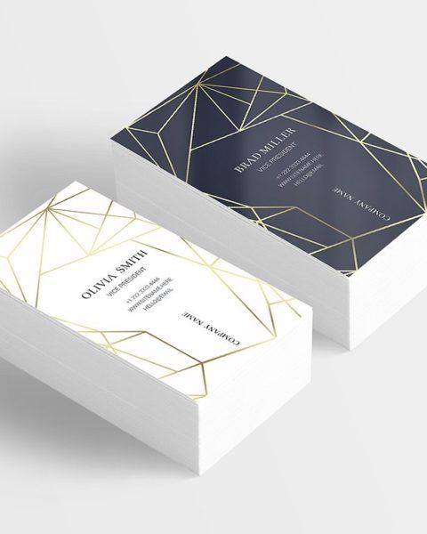 Biglietto da visita elegante con linee geometriche-2