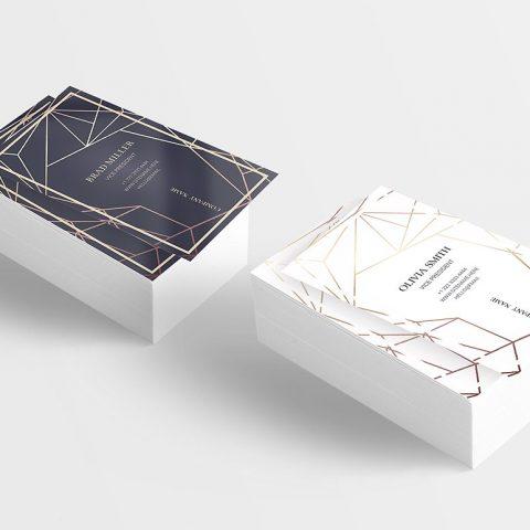 Biglietto da visita elegante con linee geometriche-5