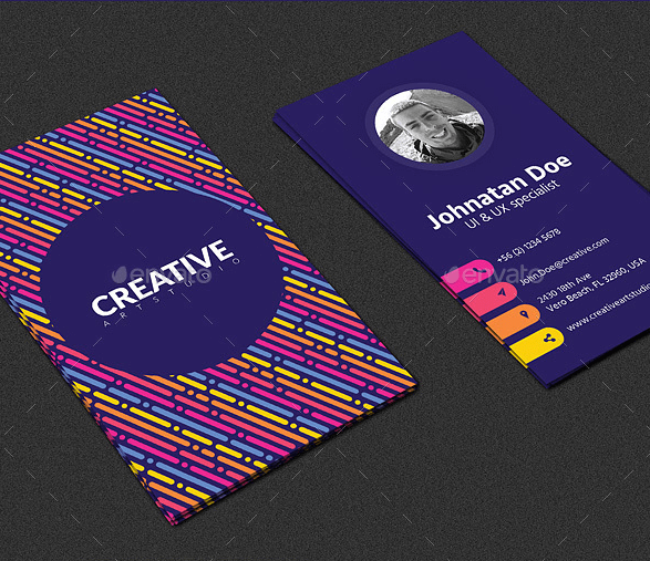 Biglietto da visita moderno con pattern colorato