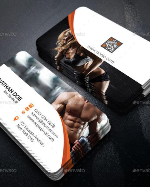 Biglietto da visita per personal trainer e fitness-1