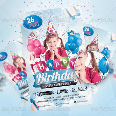 Volantino festa di compleanno con la tua foto-2