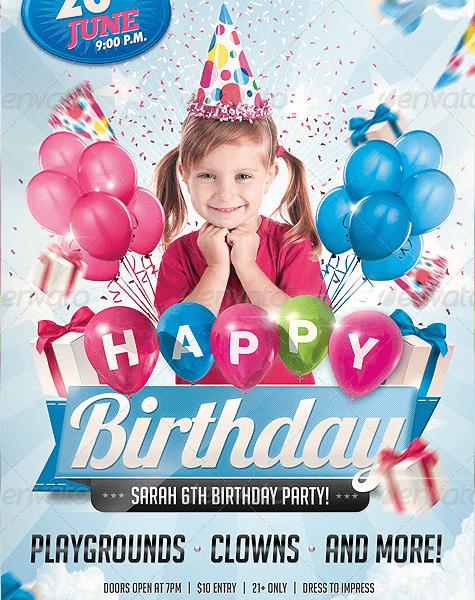 Volantino festa di compleanno con la tua foto