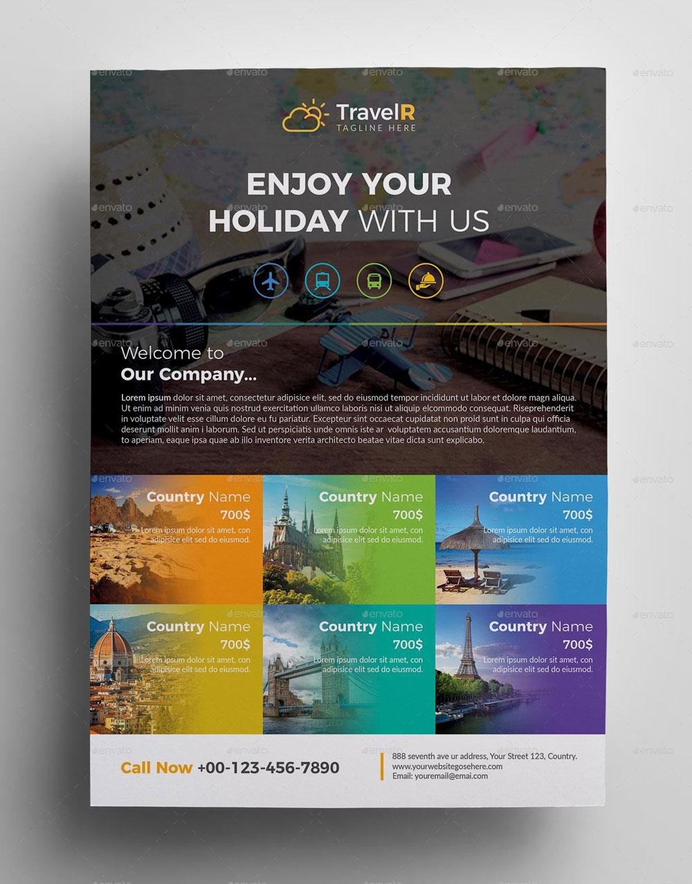 volantino promozionale viaggi