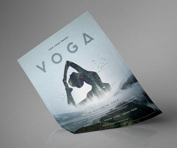 Flyer volantino illustrato per servi legati al mondo dello yoga-2