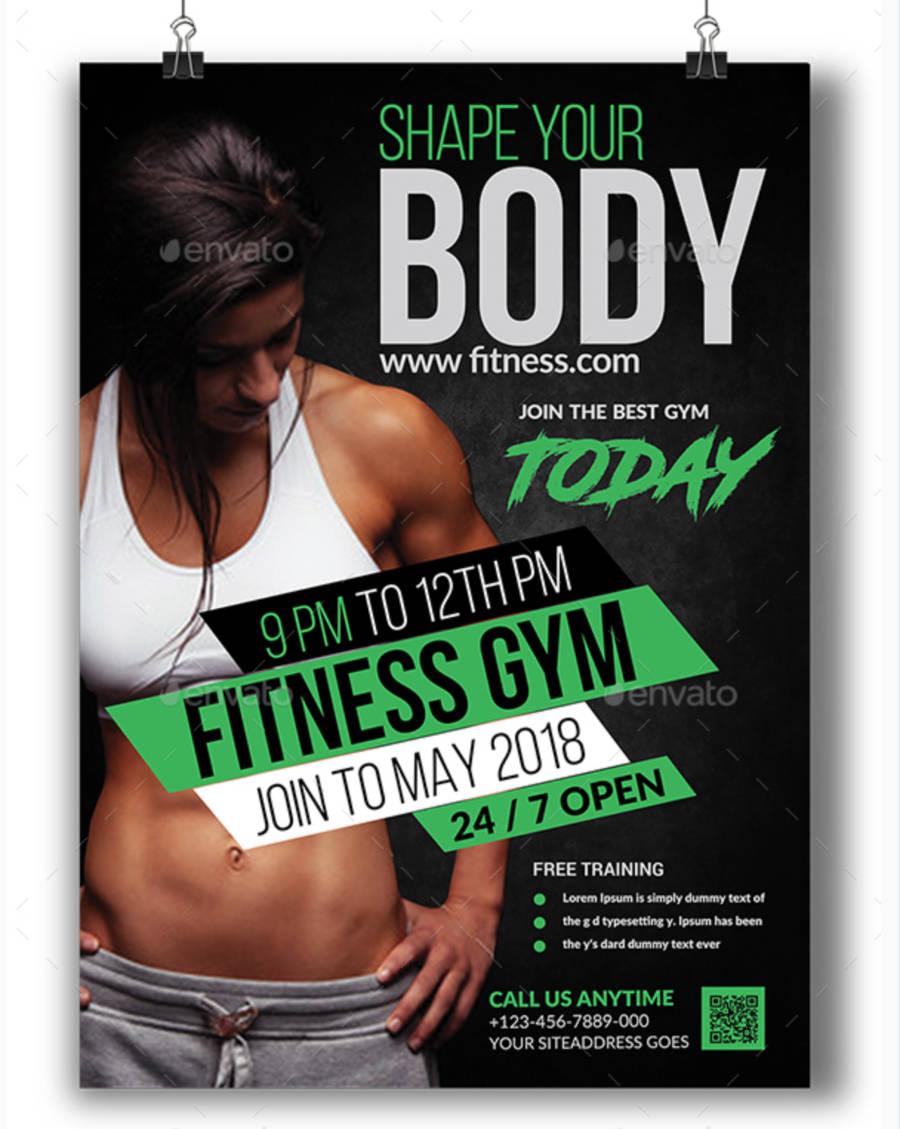 Poster moderno per attività di fitness-2