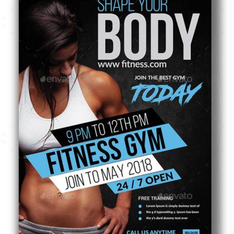 Poster moderno per attività di fitness-3