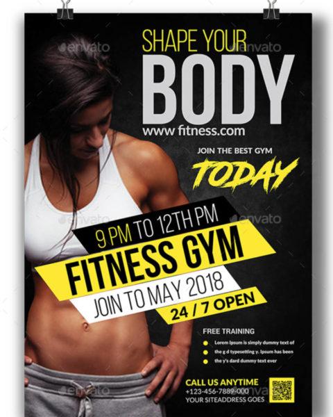 Poster moderno per attività di fitness