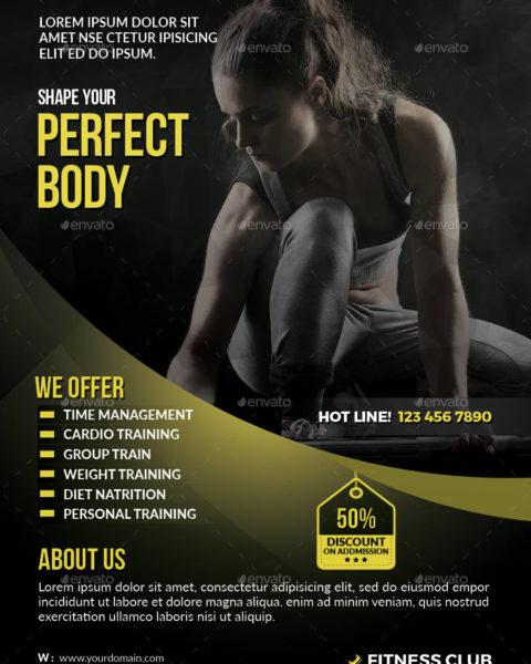 Volantino semplice per fitness -2