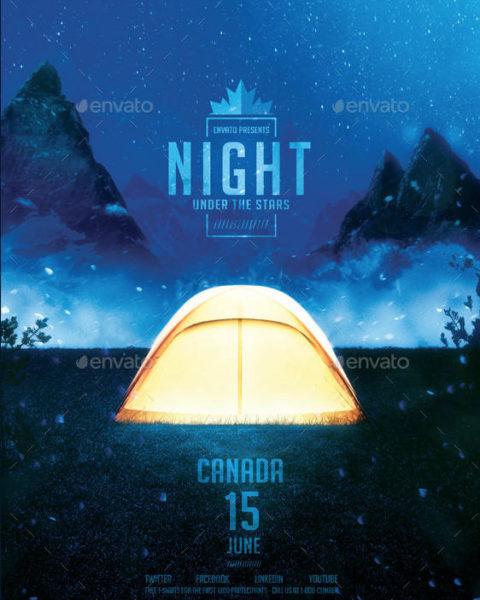 Volantino notte in tenda