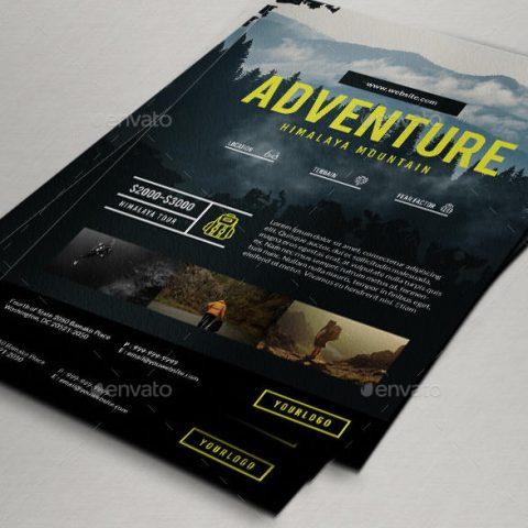 Volantino per promuovere un evento escursionistico 2