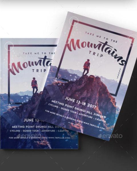 Volantino trekking in montagna 2