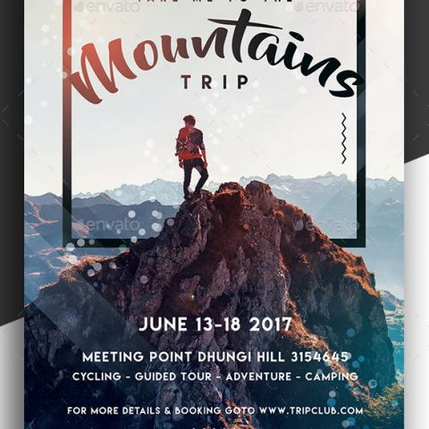 Volantino trekking in montagna