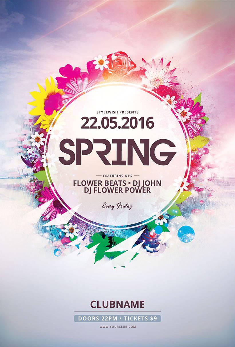 Festa di primavera motivo floreale