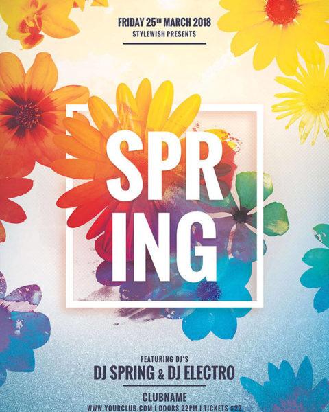 Poster per evento di primavera