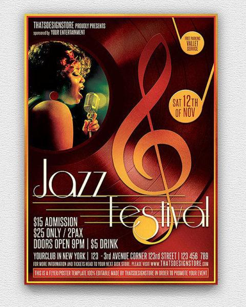 Volantino eventi e serate musicali Jazz