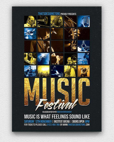 Volantino eventi e serate musicali