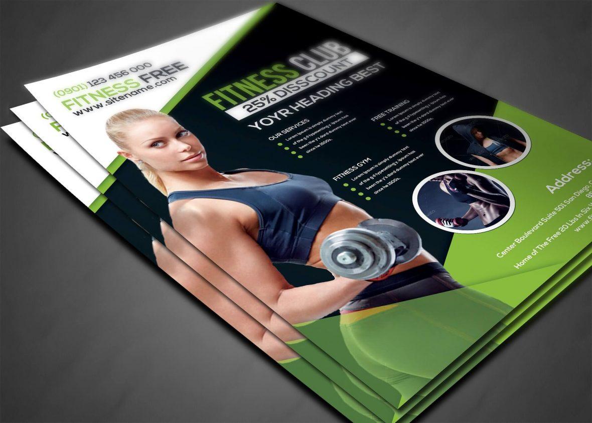 Volantino moderno per fitness 3 3