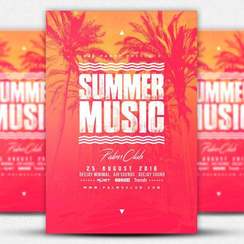 Volantino party summer music