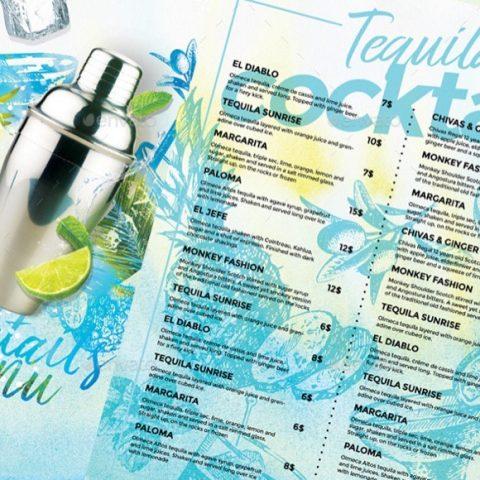 Menù drink bevande cocktails