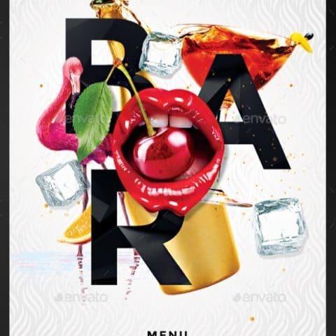 menù per bevande drinks