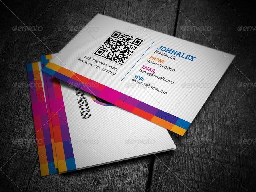 modello di biglietto da visita moderno