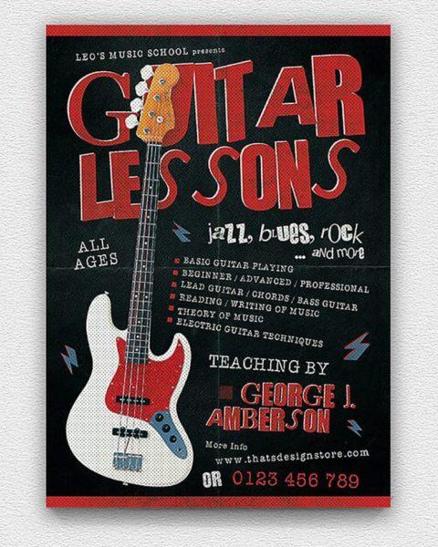 Volantino lezioni di chitarra 3