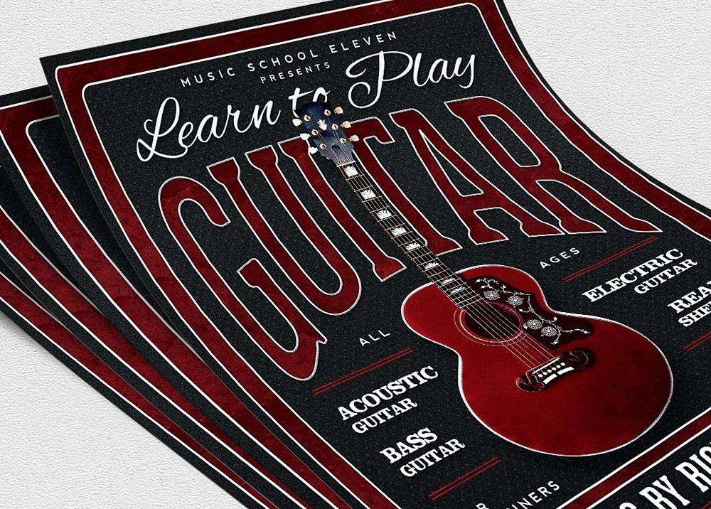 Volantino lezioni di chitarra 1