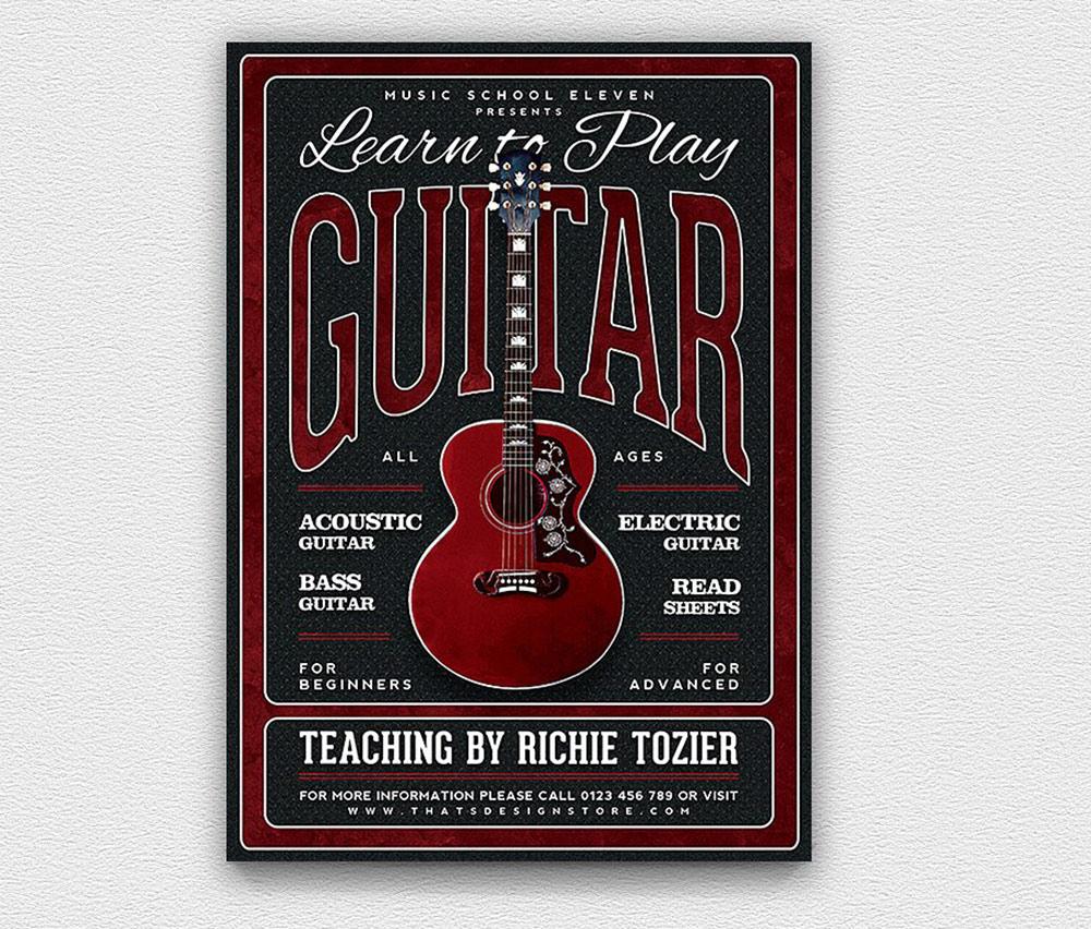 Volantino lezioni di chitarra