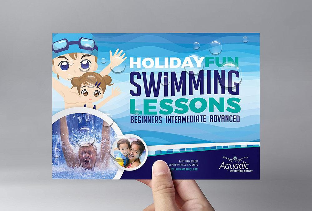Volantino lezioni di nuoto per bambini 1